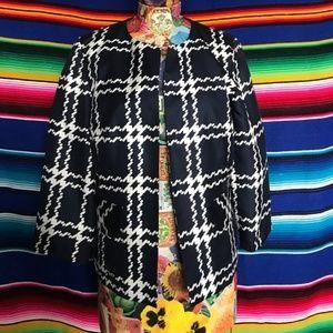 Pendleton Silk Patterned Weave Blazer RicRac